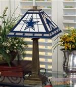 (NFL Mission Style Stained Glass Table Lamp NFL Team: Dallas Cowboys)