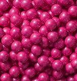 Sweetworks Bright Pink Shimmer Sixlets 1 lb Bag