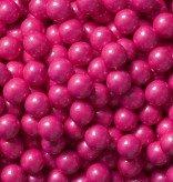 Sweetworks Bright Pink Shimmer Sixlets 1 lb Bag]()