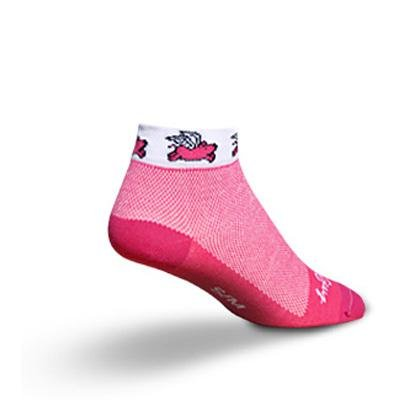 (SockGuy Women's 1in Flying Pig Low Cycling/Running Socks - Size S/M - SGLCFLY)