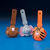 Molded Plastic Jumbo Zoo Animal Clappers (12)