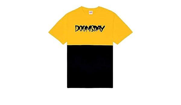 Doomsday - Camiseta con Logotipo de tee 2 Tones, Color Amarillo S: Amazon.es: Ropa y accesorios