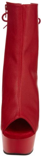Delight Boot 1018 Women's Pleaser Polyurethane Red Ankle Red 7pwqT1B5