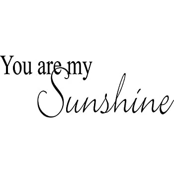 Amazoncom You Are My Sunshine Vinyl Wall Quotes Love Sayings Home