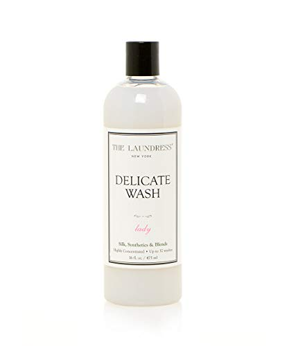 The Laundress - Delicate Wash, Lady Scented, Laundry Detergent for Delicates, Care for Fabric, Silk, Synthetics and Blends, Allergen-Free, 16 fl oz, 32 washes (The Best Way To Hand Wash Clothes)