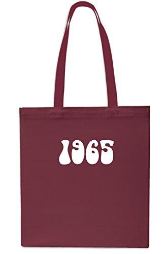 x38cm litres Shopping Year Birthday 10 42cm Beach Bag Tote 1965 NAVY Anniversary Gym MAROON 6xqPzggFw