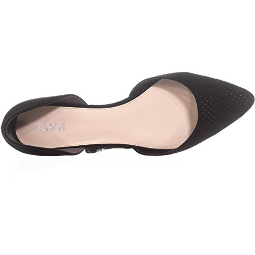 del perforados negro Croissant punta oscuro en B35 Luna pisos del pie dedo wZRqqf70nx