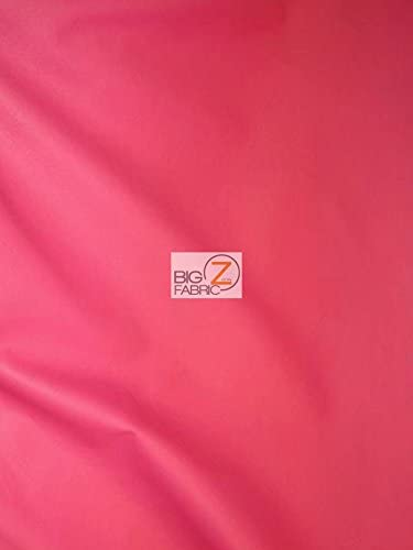 54 Width Sold By The Yard HOT PINK Solid Soft Faux Fake Leather Vinyl Fabric
