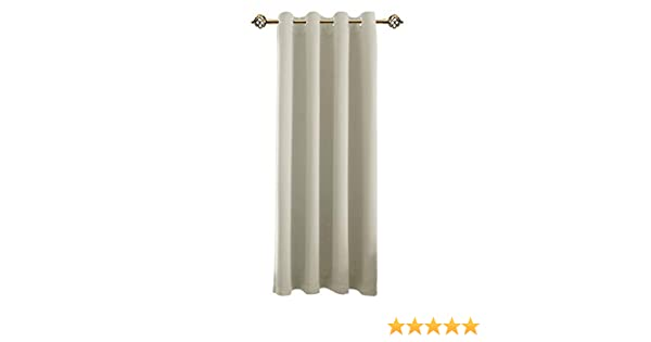 FLOWEROOM Room Darkening Curtains Thermal Insulated Panels with Grommet Top for Living Room, 52 x 84 inch, Beige, 1 Panel