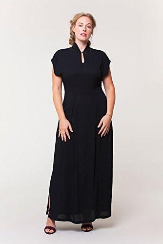 Colette Patron De Couture Pour Femmes 1040 Prudence Col Mao Robe Amazon Fr Cuisine Maison