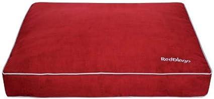 Red Dingo Acolchado colch/ón para Perro Rojo