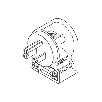 Hospital Grade Male Plug Right Angle
