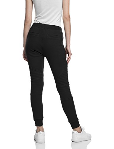 Urban Classics Ladies Melange Biker Sweatpants-Pantalones Mujer Negro (Schwarz)