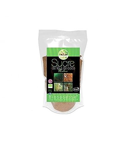Sucre De Coco Bio Non Raffine Sucre De Seve De Fleur De Cocotier En Poudre Bio 200g Ecoidees Biosagesse Faible Index Glycemique