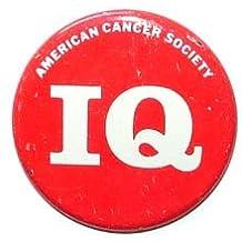 American Cancer Society IQ Pinback Button