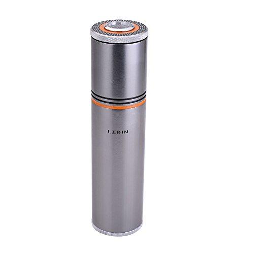 Gadgets Aluminium Alloy Travel Cigar Tube Portable Jar MINI Humidor Humidifier Hygrometer (silver)