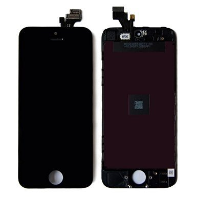(LCD Touch Screen Digitizer Frame Assembly Full Set LCD Touch Screen Replacement for iPhone 5 - Black)