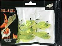 - Blaze Rigged Livewire Grubs, 3-Inch, Silver/Chartreuse