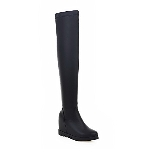 1TO9 Ladies Platform Round Toe Pull-On Mesh Legging Boots
