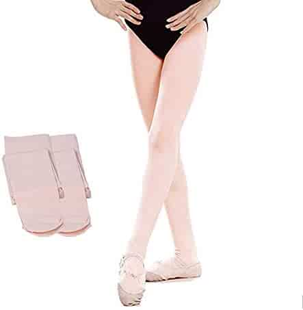 6a45d0ea18250 Dear Tomorrow Ballet Dance Tights Footed - Ultra-soft Pro Excellent  Hold&Stretch 2 Pairs (