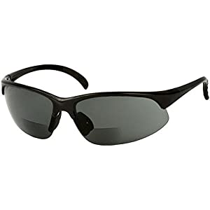 Sport Wrap Bifocal Sunglasses - Outdoor Reading/Activity Sunglasses (Black, 1.5x))