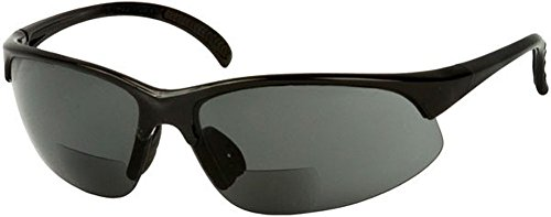 Sport Wrap Bifocal Sunglasses - Outdoor Reading/Activity Sunglasses (Black, 2 x)