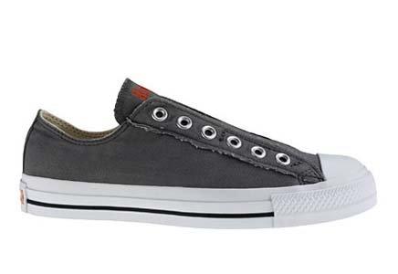 Converse Mens Chuck Taylor All Star Slip Grey / Orange