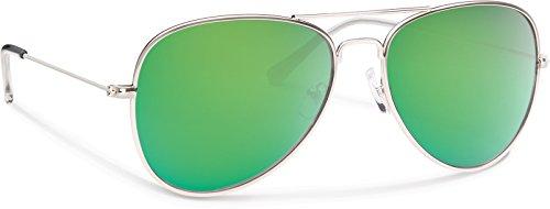 Forecast Optics Kennedy Sunglass with Silver/Green - Optics Kennedy