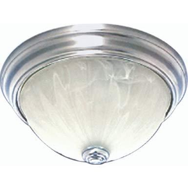 Alabaster Melon Ceiling Flush - Volume Lighting V7730 Marti 1-Light Indoor Flush Mount Ceiling Fixture with Alabaster Melon Glass Bowl Brushed Nickel
