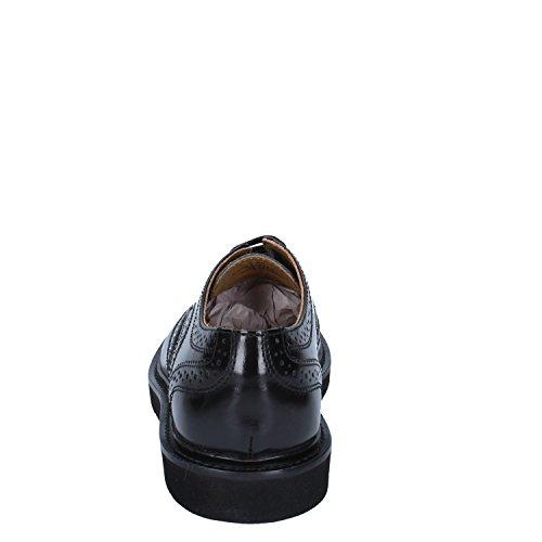 Base London zapato Hombre Cordones Perforado Cuero Black_41