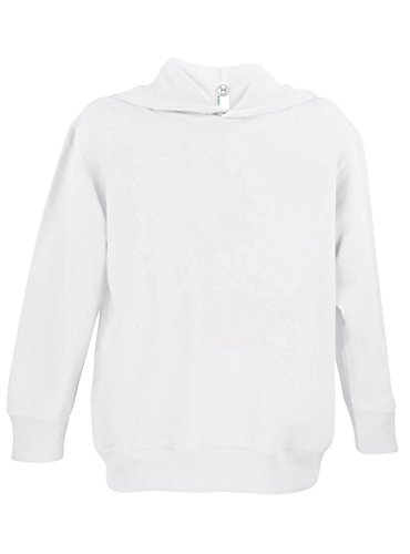 Rabbit Skins Fleece Blank Toddler Pullover Fleece Hoodie [Size 5/6T] White Long Sleeve Sweatshirt