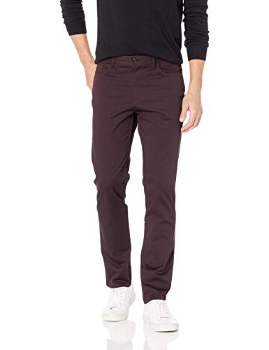 (Calvin Klein Men's Stretch Sateen Casual Pants 1, Wine Tasting, 31W x 32L)