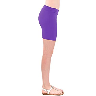 Ladies Basic Purple Solid Color Mini Skirt at Women's Clothing store