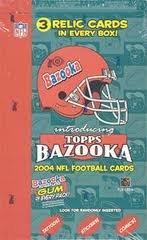 2004 Topps Bazooka Football Hobby Box - Roethlisberger Rookie Year !