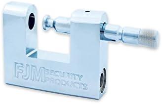 "FJM Security SPSA60-KA 2-3//8/"" Triple Chrome Plated D-Shaped Security Padlock,"