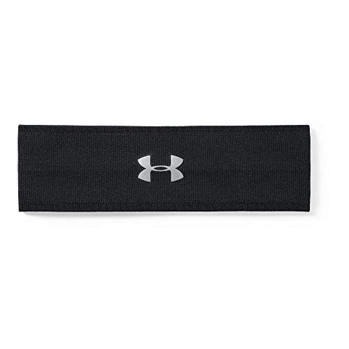 (Under Armour Women's Perfect Headband 2.0, Black (004)/Metallic Silver, One Size Fits All)