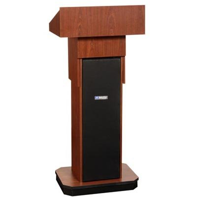 Amplivox Executive Adjustable-Height Non-Sound Lectern - Mahogany - Mahogany