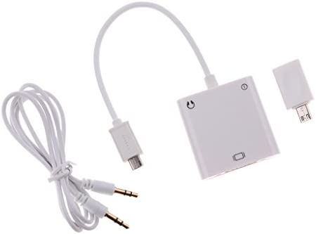 アンドロイドデバイスに対応 マイクロUSB→VGA AVアダプタ オーディオケーブル