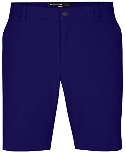 Greg Norman Flat Front Shorts - Greg Norman Mens Ml75 Micro Lux Flat Front Shorts, Indigo, 40