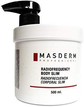 MASDERM | Crema Anticelulítica Reafirmante Reductora Radiofrecuencia | 500 ml | Gel Anticelulitico Corporal Profesional Potente | Hombre y Mujer | Abdomen, Caderas, Glúteos y Brazos | Vientre Plano