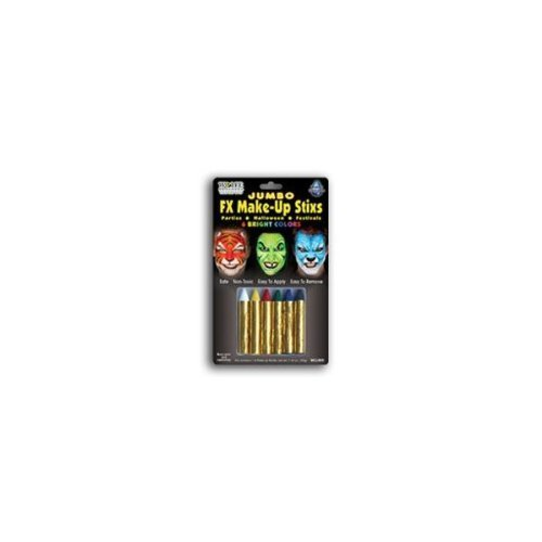 Wolfe Jumbo Bright Face Paint Crayons (6/box) (Easy No Mess Halloween Crafts)