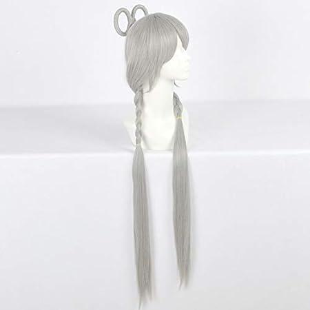 Iudrfgsd Gris Estilo Doble Mariposa Clip Cos Anime Peluca Mecanismo Rosa Neta Peluca (Shape : B Hairstyle) : Amazon.es: Juguetes y juegos