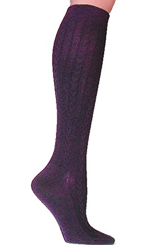 Foot Traffic Textured Cable Knit Knee High Socks