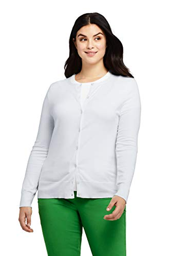 Lands' End Women's Plus Size Supima Cotton Cardigan Sweater