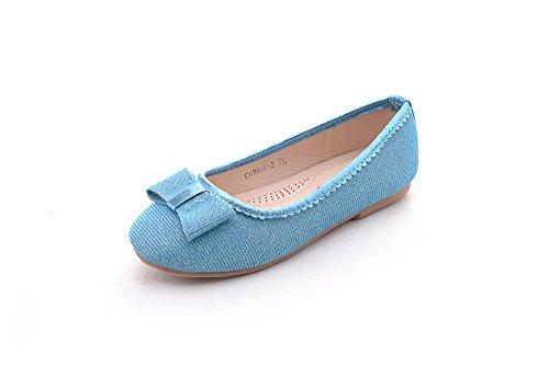 Mila Girls Casual Comfortable Glitter Ballerina Flat Shoes (Carrie-2) -