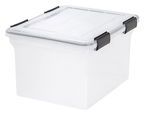 IRIS 32 Quart WEATHERTIGHT Storage Box, Clear