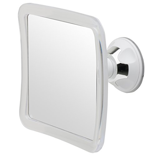 "Fogless Shower Shaving Mirror, 2016 Model, 5.3"" x 5.3"" Surface, 3X Magnification"