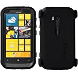 Otterbox Defender Series Hybrid Case and Holster for Nokia Lumia 822 Retail Packaging-Black