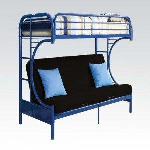 Acme Furniture 02091W-NV Eclipse Futon Bunk Bed, Twin/Full,