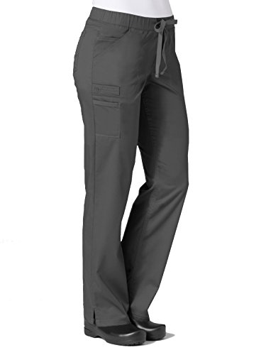 (Maevn Women's PrimaFlex Inner Beauty Straight Leg Pant(Pewter, Small))